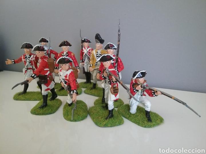 Figuras de Goma y PVC: Soldados británicos guerra independencia americana AWI , ACCURATE Figures en escala Britains - Foto 2 - 114295035