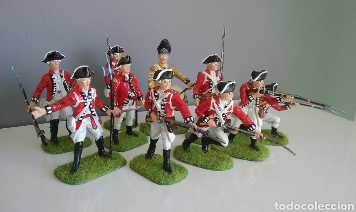Figuras de Goma y PVC: Soldados británicos guerra independencia americana AWI , ACCURATE Figures en escala Britains - Foto 3 - 114295035