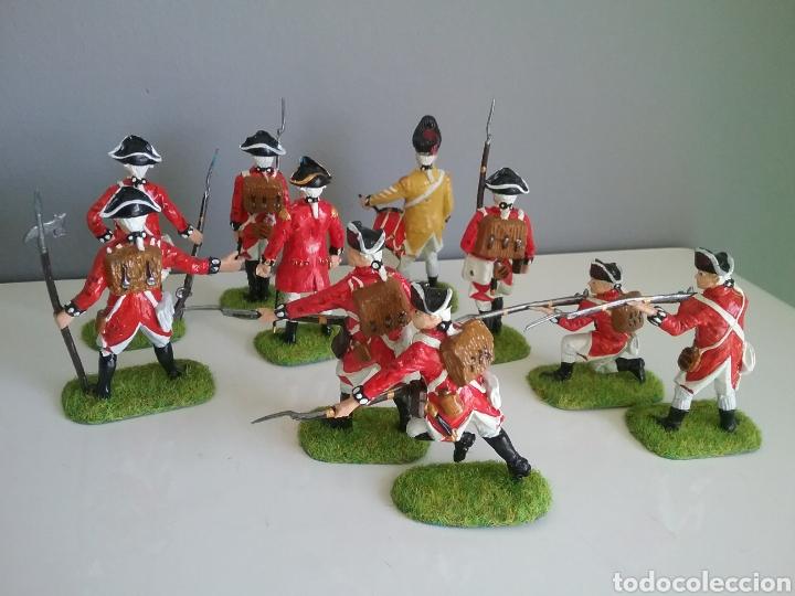 Figuras de Goma y PVC: Soldados británicos guerra independencia americana AWI , ACCURATE Figures en escala Britains - Foto 6 - 114295035