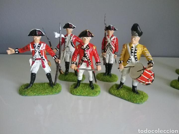 Figuras de Goma y PVC: Soldados británicos guerra independencia americana AWI , ACCURATE Figures en escala Britains - Foto 7 - 114295035