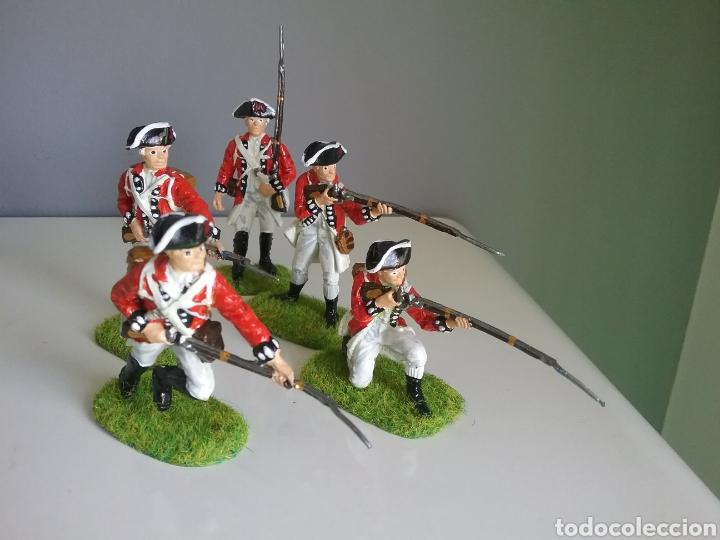 Figuras de Goma y PVC: Soldados británicos guerra independencia americana AWI , ACCURATE Figures en escala Britains - Foto 8 - 114295035