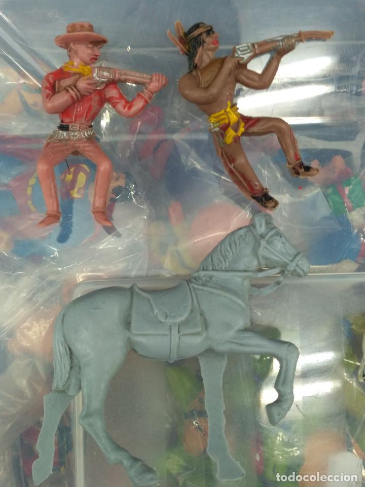 Figuras de Goma y PVC: lote 5 figuras pvc oeste indio y vaqueros comansi reamsa jecsan pech teixido - Foto 2 - 114372051