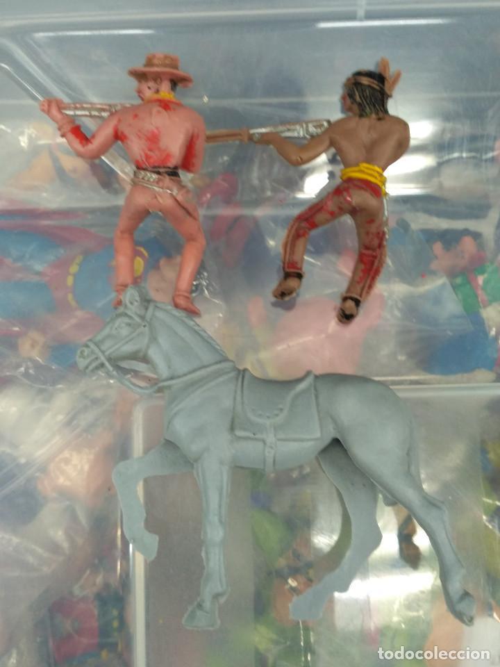 Figuras de Goma y PVC: lote 5 figuras pvc oeste indio y vaqueros comansi reamsa jecsan pech teixido - Foto 3 - 114372051