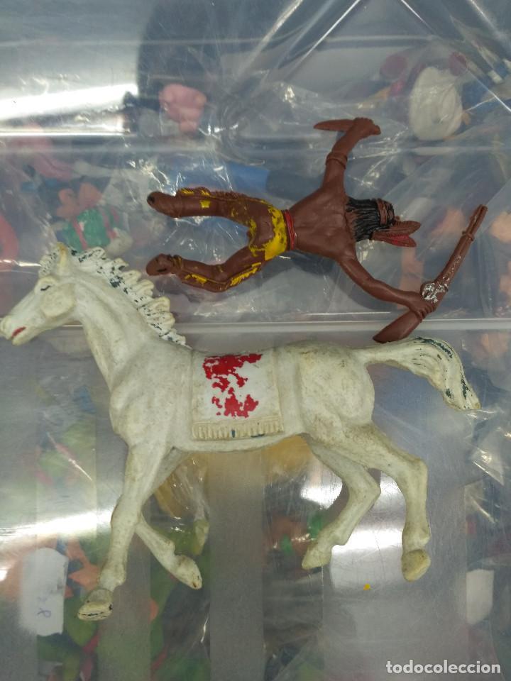 Figuras de Goma y PVC: lote 5 figuras pvc oeste indio y vaqueros comansi reamsa jecsan pech teixido - Foto 5 - 114372051