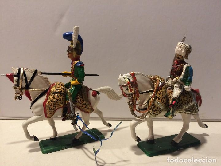 Figuras de Goma y PVC: 2 jinetes starlux serie Empire - Foto 4 - 114381775