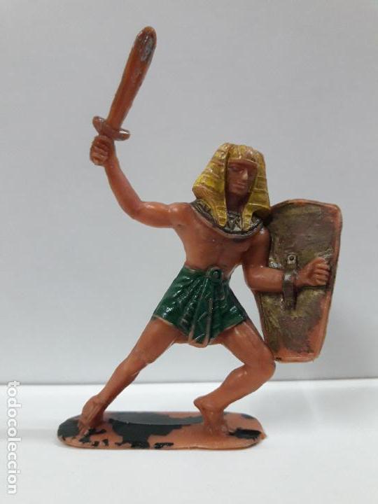 GUERRERO EGIPCIO . REALIZADO POR JECSAN . AÑOS 60 (Juguetes - Figuras de Goma y Pvc - Jecsan)