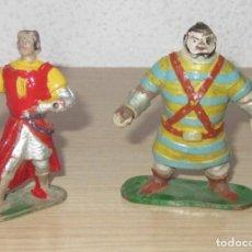 Figuras de Goma y PVC: CAPITAN TRUENO Y GOLIAT ANTIGUAS ORIGINALES, GOMA ESTEREOPLAST. Lote 114653247