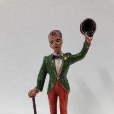 Figuras de Goma y PVC: EL PAYASO CHARLOT . SERIE CIRCO . REALIZADA POR JECSAN . AÑOS 50 EN GOMA. Lote 114709395
