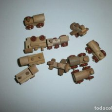 Figuras Kinder: LOTE 10 JUGUETES DE MADERA KINDER. Lote 114883507