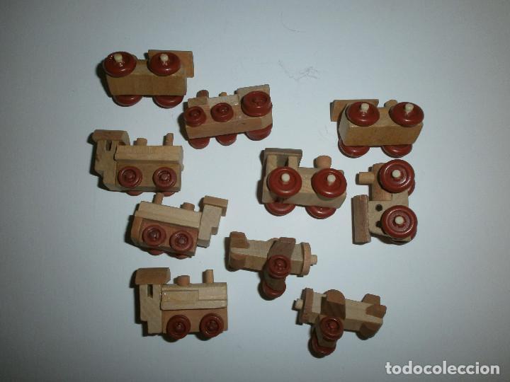 Figuras Kinder: lote 10 juguetes de madera Kinder - Foto 2 - 114883507