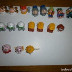 Figuras Kinder: 16 COCHES - CARA KINDER + 2 MONSTRUITOS FERRERO. Lote 114971095