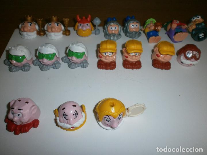 Figuras Kinder: 16 coches - cara Kinder + 2 monstruitos Ferrero - Foto 2 - 114971095