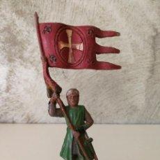 Figuras de Goma y PVC: FIGURA CRUZADO ABANDERADO REAMSA 129 EN GOMA. Lote 115008491