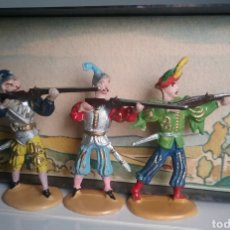 Figuras de Goma y PVC: LANSQUENETES, W.MERTEN, MERCENARIOS, INSPIRARON A REAMSA, LAFREDO Y OTROS, 4 CMS. EXIN CASTILLOS. Lote 115008683