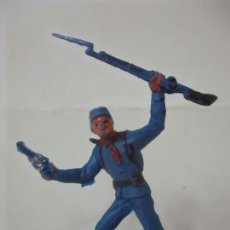 Figuras de Goma y PVC: SOLDADO YANKEE 7º DE CABALLERÍA - CON RIFLE Y PISTOLA - AÑOS 60-70. Lote 115049659