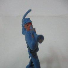 Figuras de Goma y PVC: SOLDADO YANKEE 7º DE CABALLERÍA - CON TROMPETA Y ESPADA - AÑOS 60-70. Lote 115049887