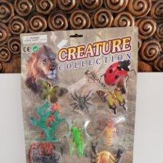 Figuras de Goma y PVC: SET ANIMALES DE LA NATURALEZA MARIPOSAS, TARANTULA, ESCORPION, SALTAMONTE Y CIGARRA CREATURE COLLECT. Lote 115075359