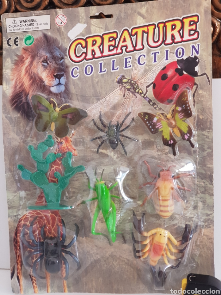 Figuras de Goma y PVC: SET ANIMALES DE LA NATURALEZA MARIPOSAS, TARANTULA, ESCORPION, SALTAMONTE Y CIGARRA creature COLLECT - Foto 2 - 115075359