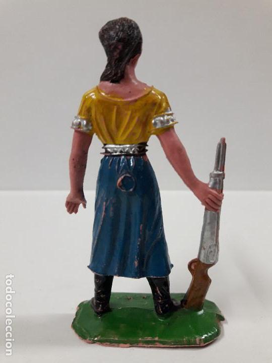 Figuras de Goma y PVC: FIGURA DE VICTORIA CANNON . EL GRAN CHAPARRAL . REALIZADA POR COMANSI . AÑOS 60 - Foto 2 - 115223527
