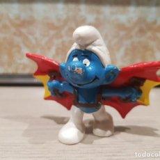 Figuras de Goma y PVC Schleich: FIGURA PVC O GOMA DURA PITUFO VOLADOR SCHLEICH PORTUGAL. Lote 115279283