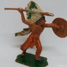 Figuras de Goma y PVC: ANTIGUA FIGURA DEL OESTE. SERIE INDIOS Y VAQUEROS.. PECH HERMANOS. AÑOS 70.. Lote 115334759