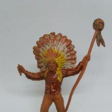 Figuras de Goma y PVC: ANTIGUA FIGURA DEL OESTE. PECH HERMANOS. SERIE INDIOS Y VAQUEROS.. Lote 115338523