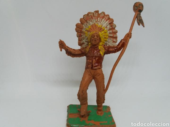 Figuras de Goma y PVC: Antigua Figura del Oeste. Pech Hermanos. Serie Indios y Vaqueros. - Foto 2 - 115338523