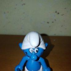 Figuras de Goma y PVC: FIGURA PVC ENDURECIDO O PLÁSTICO PITUFO ARTICULADO, PIES TAMBIÉN PEYO RAREZA. Lote 115346344