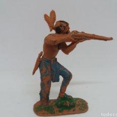 Figuras de Goma y PVC: ANTIGUA FIGURA DEL OESTE JECSAN. SERIE INDIOS Y COWBOYS. 60 MM. AÑOS 60. PLÁSTICO.. Lote 115361799