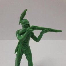 Figuras de Goma y PVC: GUERRERO INDIO . REALIZADO POR COMANSI . EN PLASTICO MONOCOLOR . Lote 115395703