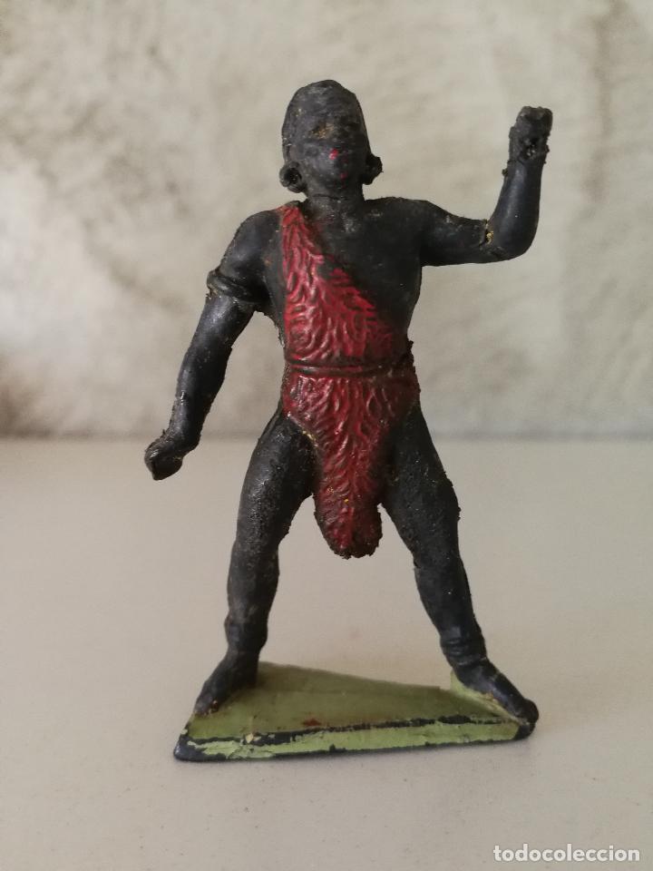NEGRO AFRICANO SAFARI JECSAN EN GOMA AÑOS 50 (Juguetes - Figuras de Goma y Pvc - Jecsan)
