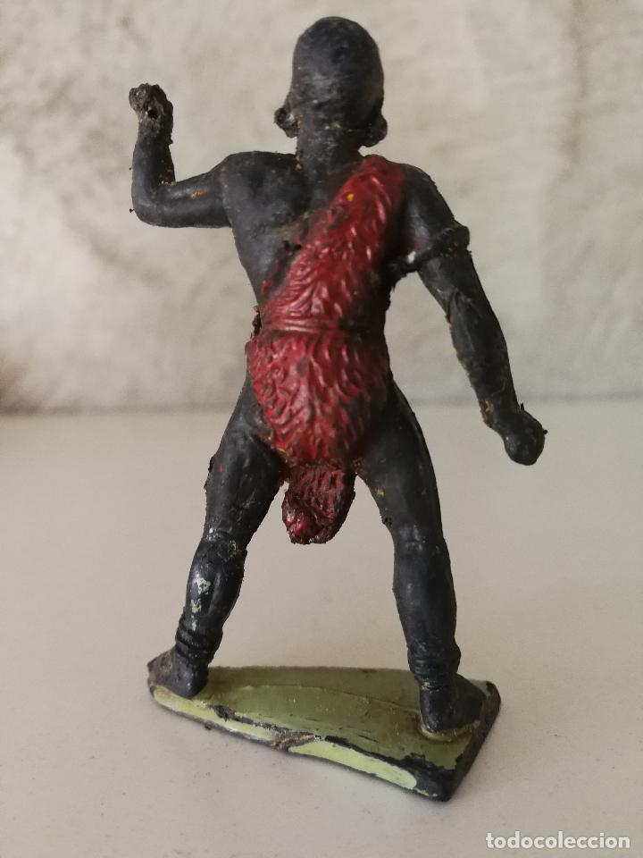 Figuras de Goma y PVC: NEGRO AFRICANO SAFARI JECSAN EN GOMA AÑOS 50 - Foto 2 - 115621131