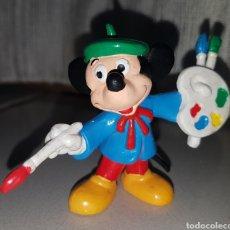 Figuras de Goma y PVC: BONITO MUÑECO PVC GOMA MICKEY MOUSE PINTOR MARCA BULLY. Lote 115657612