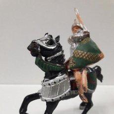 Figuras de Goma y PVC: GUERRERO MEDIEVAL A CABALLO . FIGURA REAMSA . SERIE RICARDO CORAZON DE LEON . AÑOS 60. Lote 115787283