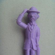 Figuras de Goma y PVC: FIGURA DE DUNKIN PREMIUM DE TINTIN : EL PROFESOR TORNASOL .. DETRAS PONE ESSO. Lote 115852531