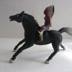Figuras de Goma y PVC: INDIO A CABALLO SOTORRES, GOMA.. Lote 115919275
