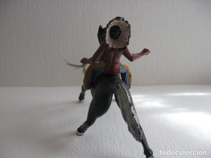 Figuras de Goma y PVC: INDIO A CABALLO SOTORRES, GOMA. - Foto 2 - 115919275