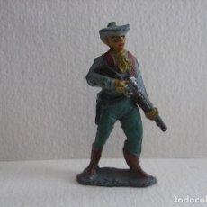 Figuras de Goma y PVC: VAQUERO CON RIFLE, TEIXIDO, DE GOMA. Lote 115923739