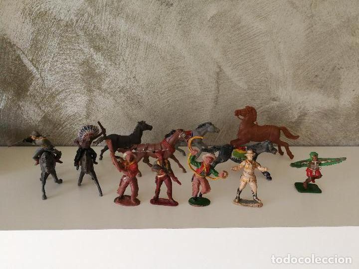 LOTE INDIOS Y VAQUEROS EN GOMA PECH JECSAN (Juguetes - Figuras de Goma y Pvc - Pech)
