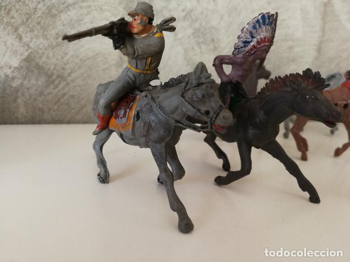 Figuras de Goma y PVC: LOTE INDIOS Y VAQUEROS EN GOMA PECH JECSAN - Foto 3 - 116093427