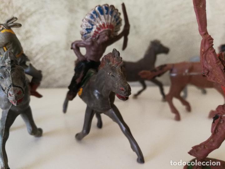 Figuras de Goma y PVC: LOTE INDIOS Y VAQUEROS EN GOMA PECH JECSAN - Foto 4 - 116093427