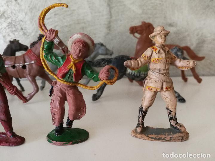 Figuras de Goma y PVC: LOTE INDIOS Y VAQUEROS EN GOMA PECH JECSAN - Foto 6 - 116093427