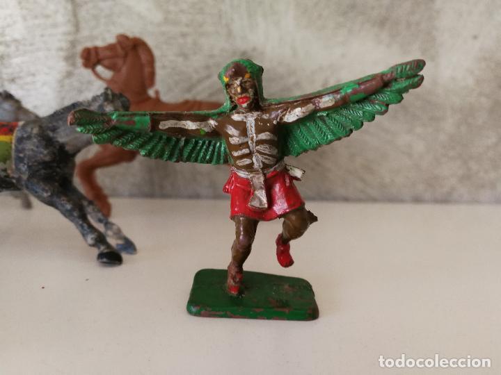 Figuras de Goma y PVC: LOTE INDIOS Y VAQUEROS EN GOMA PECH JECSAN - Foto 7 - 116093427
