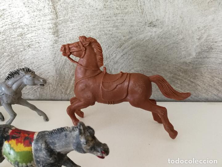 Figuras de Goma y PVC: LOTE INDIOS Y VAQUEROS EN GOMA PECH JECSAN - Foto 10 - 116093427