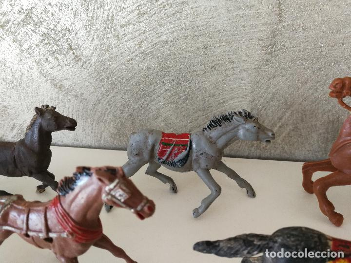 Figuras de Goma y PVC: LOTE INDIOS Y VAQUEROS EN GOMA PECH JECSAN - Foto 11 - 116093427