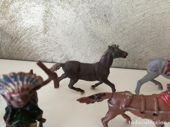 Figuras de Goma y PVC: LOTE INDIOS Y VAQUEROS EN GOMA PECH JECSAN - Foto 13 - 116093427