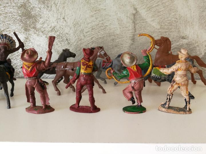 Figuras de Goma y PVC: LOTE INDIOS Y VAQUEROS EN GOMA PECH JECSAN - Foto 14 - 116093427