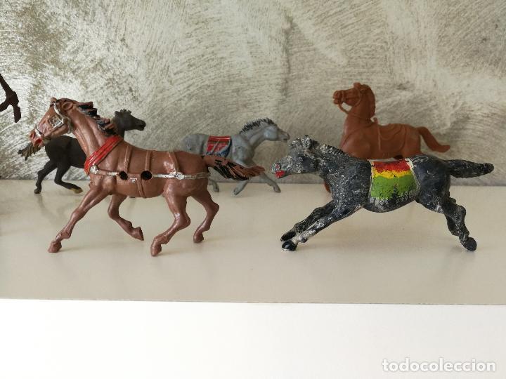 Figuras de Goma y PVC: LOTE INDIOS Y VAQUEROS EN GOMA PECH JECSAN - Foto 15 - 116093427
