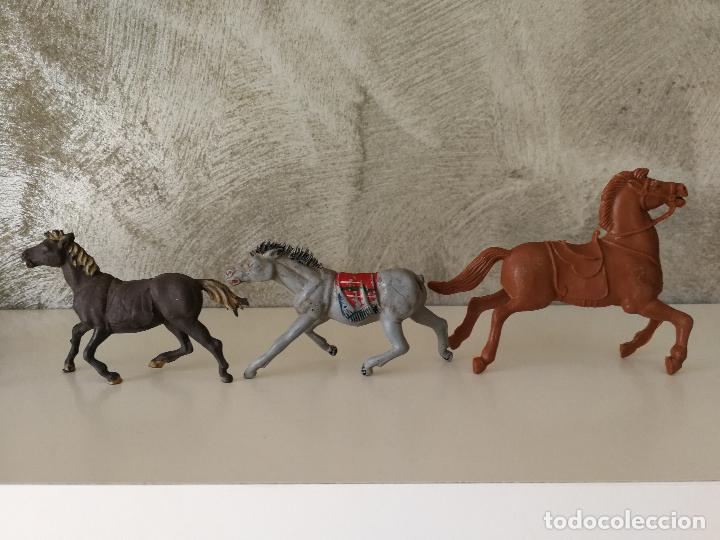 Figuras de Goma y PVC: LOTE INDIOS Y VAQUEROS EN GOMA PECH JECSAN - Foto 16 - 116093427
