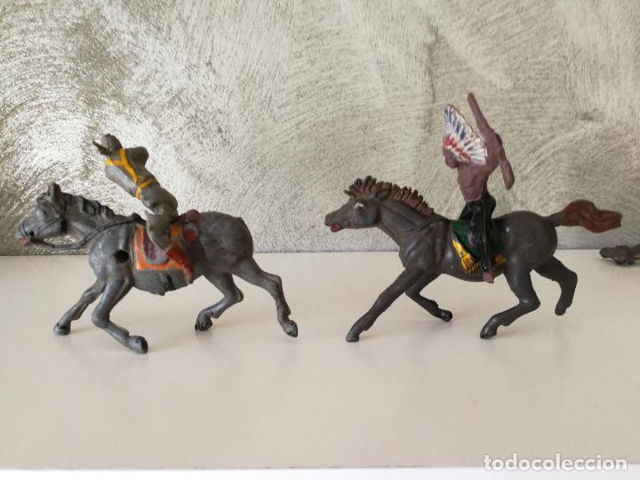 Figuras de Goma y PVC: LOTE INDIOS Y VAQUEROS EN GOMA PECH JECSAN - Foto 17 - 116093427